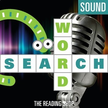 Sound Word Search Puzzle - 3 Levels Differentiated