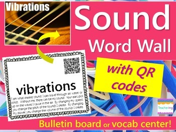 Sound Word Wall {with QR Codes}