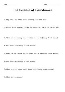 Sound Worksheet