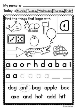 Alphabet and Letter Sounds Worksheets