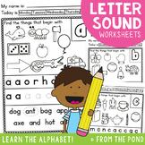 Alphabet and Letter Sounds Worksheets