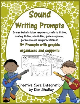 Sound Writing Prompts Graphic Organizer and Supports