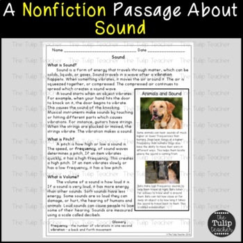 Sound and Light Reading Comprehension Paired Passages