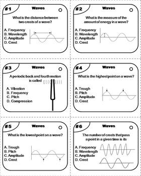 Sound and Light Waves Task Cards (Forms of Energy Task Cards)