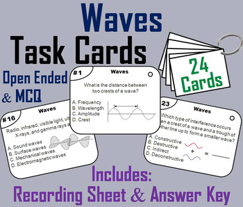 Properties of Sound and Light Waves Task Cards (Forms of Energy Task Cards)