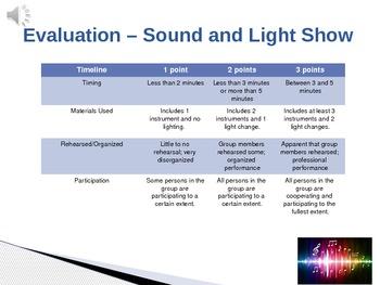Sound and Light WebQuest