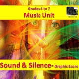 Sound & Silence-Graphic Score Unit - Four Music Lessons - 4 to 7