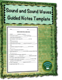 Sound and Sound Waves Guided Notes Template