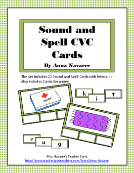 Sound and Spell CVC Cards