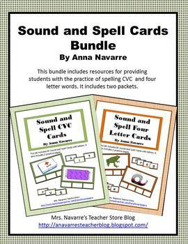 Sound and Spell Cards Bundle