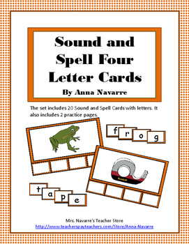 Sound and Spell Four Letter Cards
