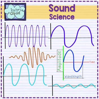 Sound and hearing clipart {Science clip art}