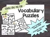 Sound and the Ear Vocabulary Puzzles