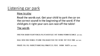 Sound car park and race game