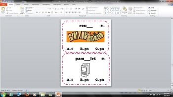 Sound of F - Digraphs GH and PH - Task Cards