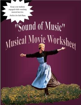 Sound of Music Musical Movie Worksheet