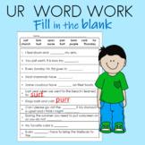 ur Word Work