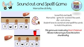 Sound out and spell  AW as in STRAW