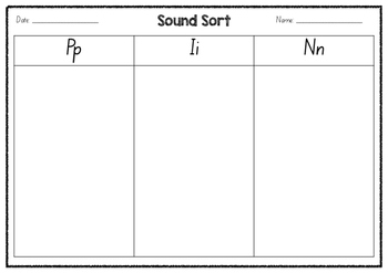 Sound sorts - SAT and PIN