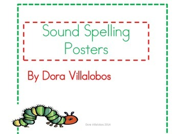 Sound spelling cards to teach vowel patterns