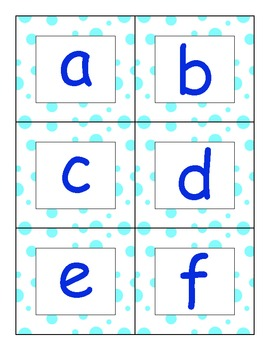 Sound/Letter Chart and Matching Game