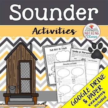 Sounder: Reading Response Activities and Projects