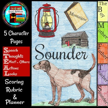 Sounder Character Analysis Flip Book and Growth Mindset Activity