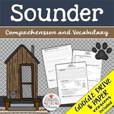 Sounder: Comprehension and Vocabulary by chapter