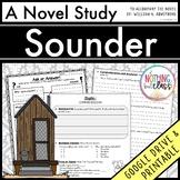 Sounder Novel Study Unit: comprehension, vocabulary, activities, tests