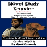 Sounder Novel Study + Enrichment Project Menu