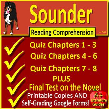Sounder Novel Study Test Bundle Common Core Aligned