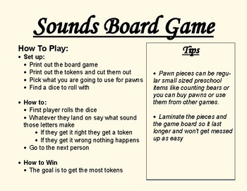Sounds Board Game