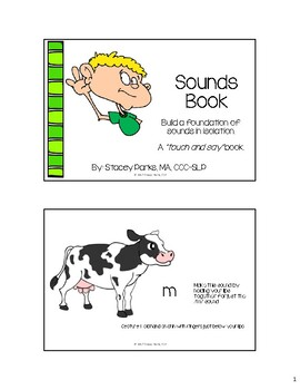 Apraxia Sounds Book - Sounds in Isolation with gestural cues