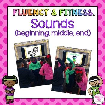 Sounds Fluency & Fitness Brain Breaks (Beginning, Middle, & Ending Sounds)