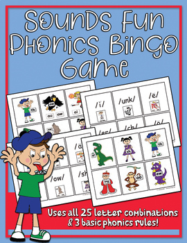 Sounds Fun Phonics Bingo Game