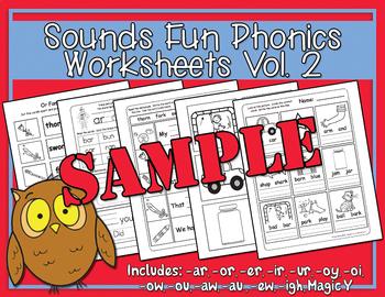 Sounds Fun Phonics Worksheets Vol. 2 Sample
