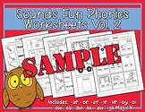 Sounds Fun Phonics Worksheets Vol. 2 Sample - Heidi Songs