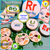 "LettersG, K, L, R Sounds Matching Game Shout Out - 4 Game bundle, 3""  5"" + box"