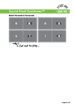 Sounds Good Reading - Stage 1 Activity (Sound Proof Dominoes)