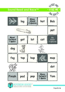 Sounds Good Reading - Stage 1 Activity (Sound Read & Race)