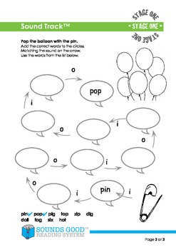 Sounds Good Reading - Stage 1 Activity (Sound Track)