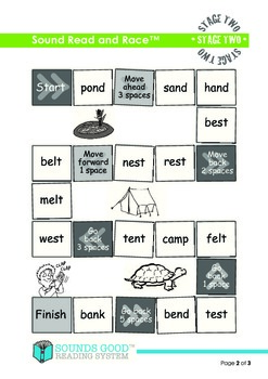 Sounds Good Reading - Stage 2 Activity (Sound Read and Race)