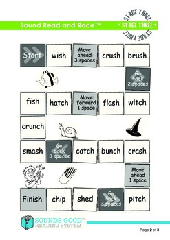 Sounds Good Reading - Stage 3 Activity (Sound Read and Race)