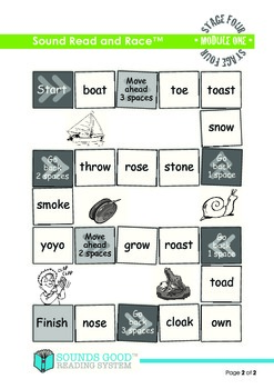 Sounds Good Reading - Stage 4 Activity - Module 1 'oe' (Read and Race)