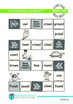 Sounds Good Reading - Stage 4 Activity - Module 2 'ow' (Read and Race)