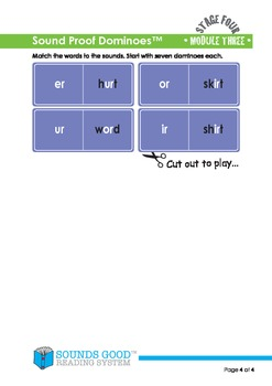 Sounds Good Reading - Stage 4 Activity - Module 3 'er' (Sound Proof Dominoes)