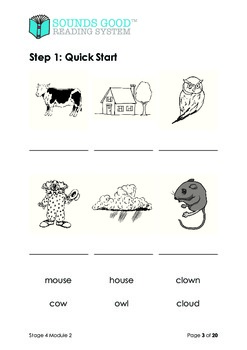 Sounds Good Reading - Stage 4 (Module 2 of 10) 'ow' as in clown