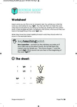Sounds Good Reading - Stage 4 (Module 10 of 10) 'igh'