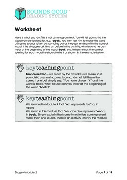Sounds Good Reading - Stage 4 (Module 5 of 10) 'oo' as in book