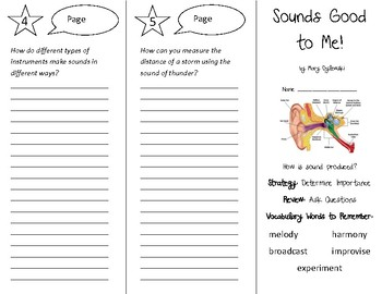 Sounds Good to Me! Trifold - 5th Grade Literacy by Design Theme 4